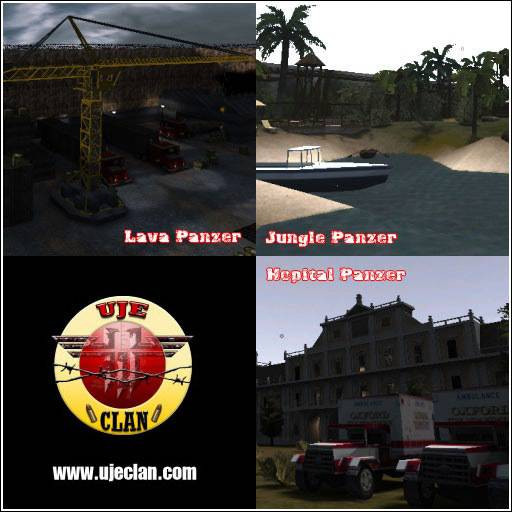 UJE Panzer Pack 1 (jungle - hospital - lava)