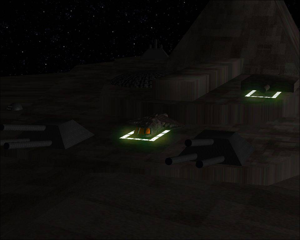 SGU Destiny with Ancient Shuttle