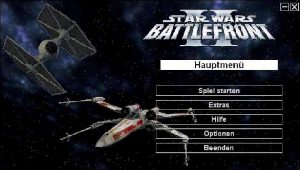 Star Wars Battlefront 2 Space Starting Menu